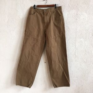 REI ORGANIC BROWN COTTON PANTS 36 X 32